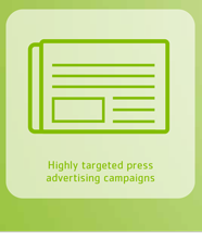 Highly targeted press advertising campaigns